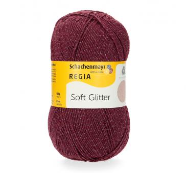Regia 100g 4-fädig Soft Glitter Sockenwolle 00045 burgund