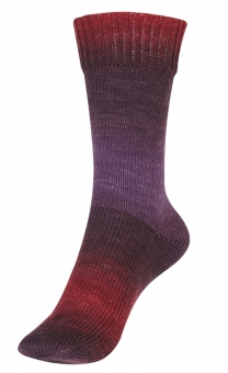 Step Merino 6-fädig Color Sockenwolle Austermann 105 Burgund