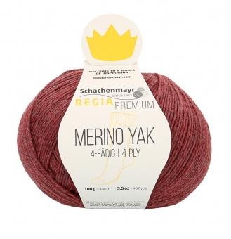 Regia Premium Merino Yak 100gr 4-fädig 07508 pflaume meliert