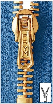 Metall Reißverschlüsse M3 goldfarbig von Prym