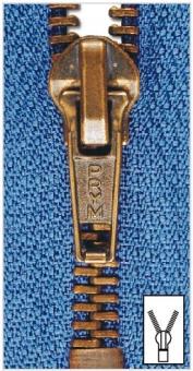 Metall Reißverschlüsse M6 altmessing von Prym 004 mittelgrau | 20 cm