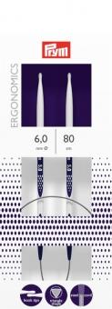 Rundstricknadeln Prym Ergonomics 2,5-12 mm 6,0mm x 80cm