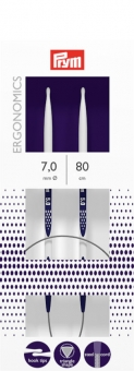Rundstricknadeln Prym Ergonomics 2,5-12 mm 7,0mm x 80cm