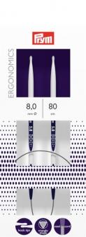 Rundstricknadeln Prym Ergonomics 2,5-12 mm 8,0mm x 80cm