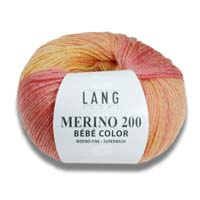 Merino 200 Bebe Color Wolle Lang Yarns