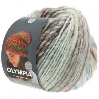 Olympia Classic Lana Grossa 84 Mint/Pastellblau/Beige/Weiß/Graubraun/Grau