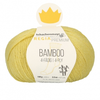 Regia Premium Bamboo Sockenwolle 100g 4-fädig 20 Yellow Green