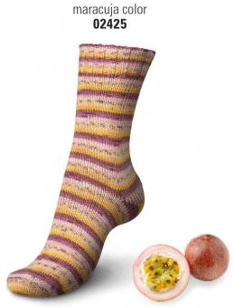 Regia Cotton Tutti Frutti Sockenwolle 100g 4-fädig 2425 maracuja