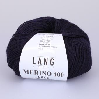 Merino 400 Lace Lang Yarns 025 NAVY MELANGE