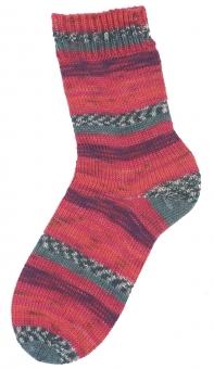 Step 4-fädig Color 100g Sockenwolle Austermann 256 rot-pflaume