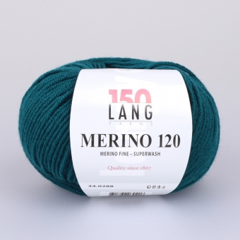 Merino 120 Lang Yarns 288 PETROL
