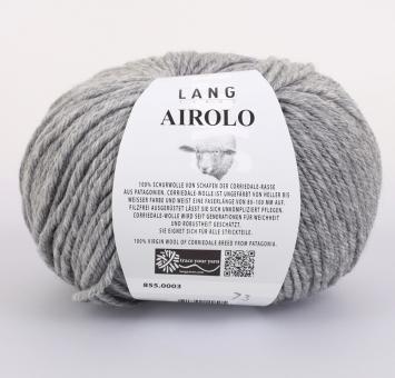 Airolo Lang Yarns 003 HELLGRAU MELANGE