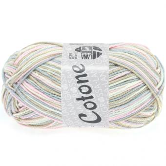 Cotone Print Lana Grossa 315 weiß/rosè/beige/silbergrau