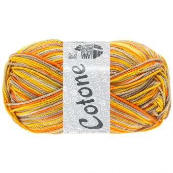 Cotone Print Lana Grossa 337 Beige/Taupe/Dottergelb/Orange