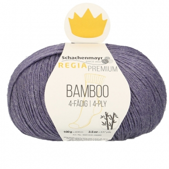 Regia Premium Bamboo Sockenwolle 100g 4-fädig 35 Purple