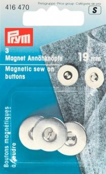 Magnet-Annähknöpfe silberfarbig