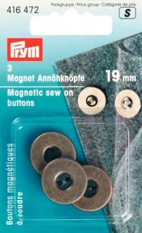 Magnet-Annähknöpfe altmessing