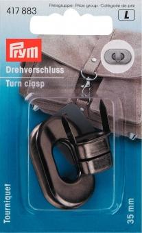 Drehverschluss für Taschen 35 x 20 mm 417883 altsilber