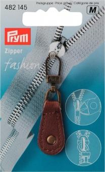 Fashion-Zipper Leder