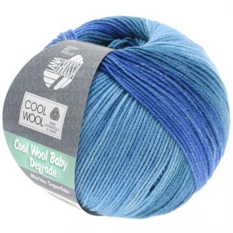 Cool Wool Baby Degrade Wolle Lana Grossa 504 Jeans/Tauben-/Veilchenblau