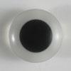 Tieraugen Knöpfe von Dill 12mm weiß/schwarz