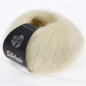 Silkhair Uni und Melange Lana Grossa 0052 rohweiß