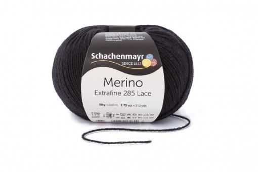Merino Extrafine 285 Lace Schachenmayr 00599 schwarz