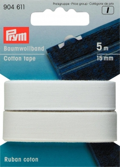 Baumwollband 15mm