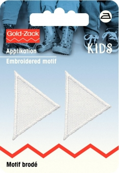 Applikation Dreiecke weiß