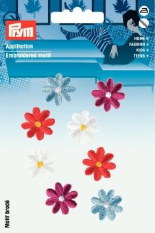 Applikationen Blumen bunt