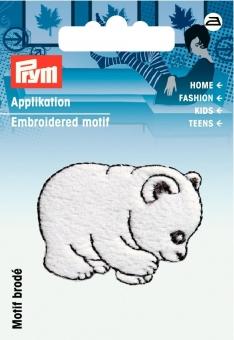 Applikation Eisbär weiß