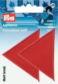 Applikation Dreiecke rot
