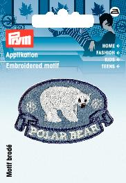 Applikation Patch POLAR BEAR blau