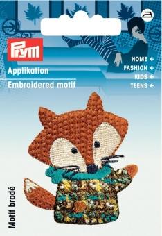 Applikation Fuchs braun/bunt