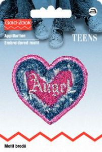 Applikation Jeans Herz Angel