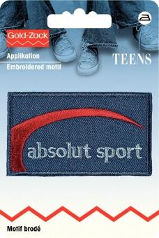 Applikation Jeanslabel absolut sport