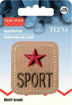 Applikation Jeanslabel Sport Cord