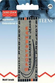 Applikation Jeanslabel Sportswear Trade Market