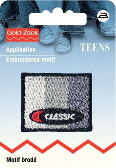 Applikation Jeanslabel Classic grau