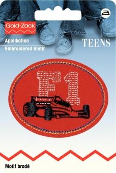 Applikation F1 rot oval