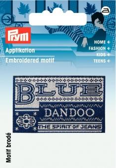 Applikation Label BLUE DANDOO