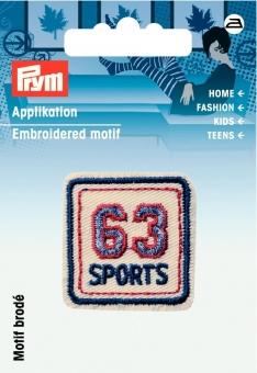 Applikation Label 63 Sports
