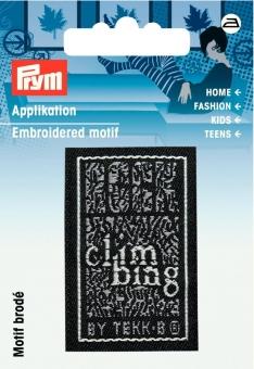 Applikation Label CLIMBING
