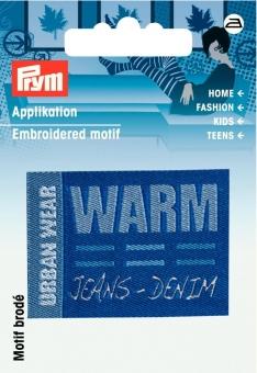 Applikation Label URBAN WEAR WARM
