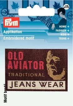 Applikation Label OLD AVIATOR