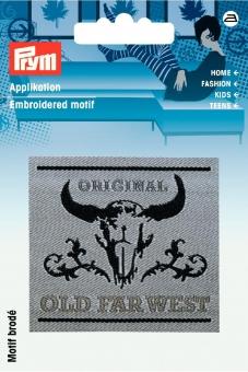 Applikation Label OLD FAR WEST