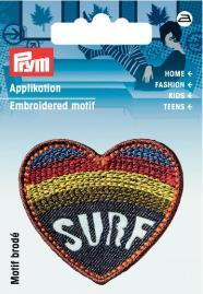 Applikation Label SURF Herz