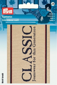 Applikation Label CLASSIC beige