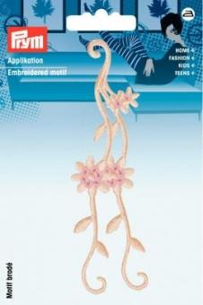 Applikation Blumenranke