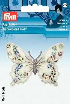 Applikation Schmetterling silber